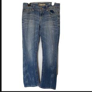 BKE Womans Petyon Light Wash Bootcut Jeans